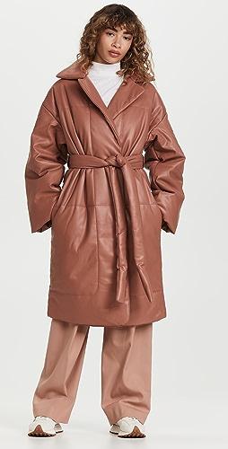 Proenza Schouler White Label - Faux Leather Puffer Coat