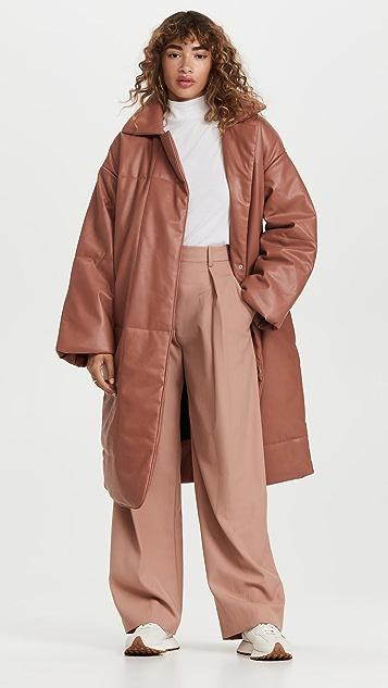 Proenza Schouler White Label Faux Leather Puffer Coat
