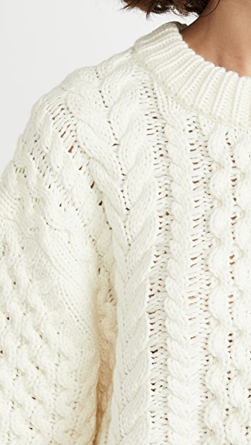 Proenza Schouler White Label Patchwork Knit Sweater
