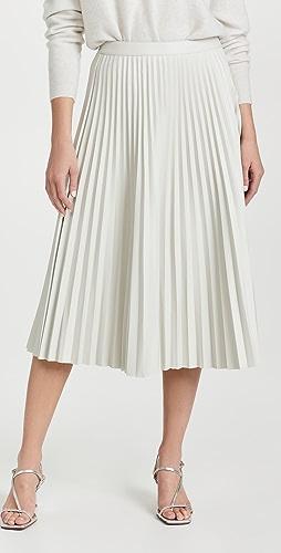 Proenza Schouler White Label - 仿皮褶皱半身裙