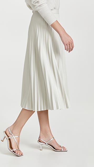 Proenza Schouler White Label Faux Leather Pleated Skirt