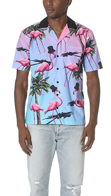 Paterson Flamingo Printed Shirt