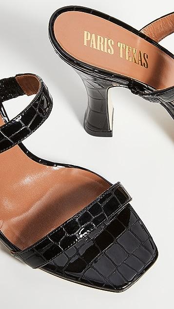Paris Texas Patent Croco 2 固定带穆勒鞋