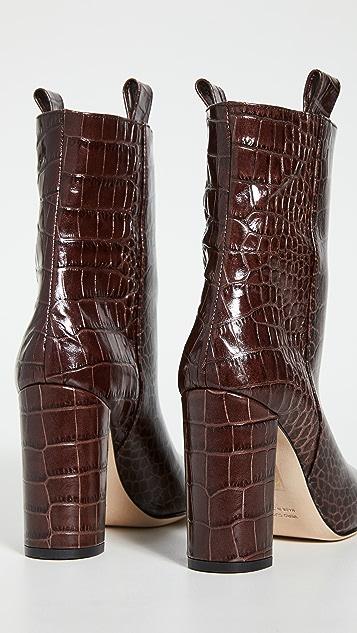 Paris Texas Moc Croco Ankle Boots 100mm