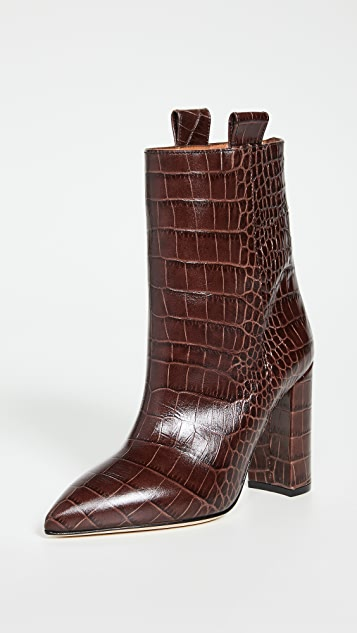 Paris Texas Moc Croco Ankle Boots 100mm