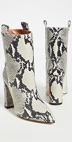 Paris Texas - Snake Print Ankle Boots 100mm