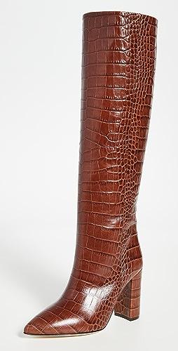 Paris Texas - 100mm Moc Croco Boots