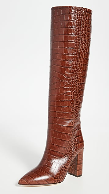 Paris Texas 100mm Moc Croco Boots