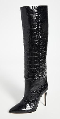 Paris Texas - Moc Croco 细高跟高筒靴