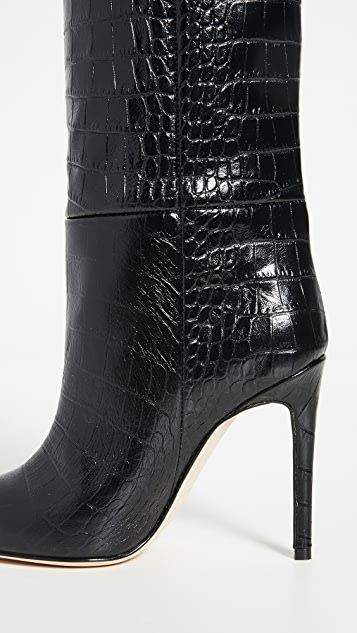 Paris Texas Moc Croco 细高跟高筒靴