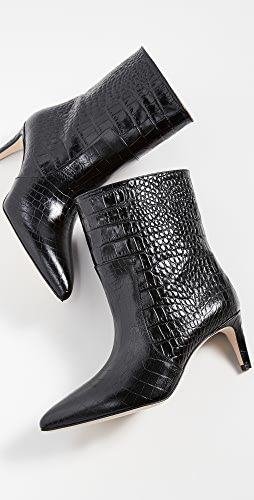 Paris Texas - Moc Croco Seamed Ankle Boots