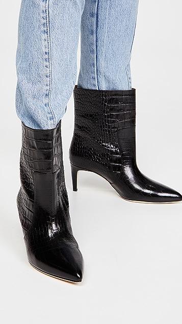 Paris Texas Moc Croco 接缝踝靴