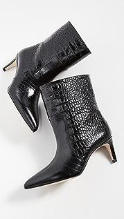 Paris Texas Moc Croco Seamed Ankle Boots