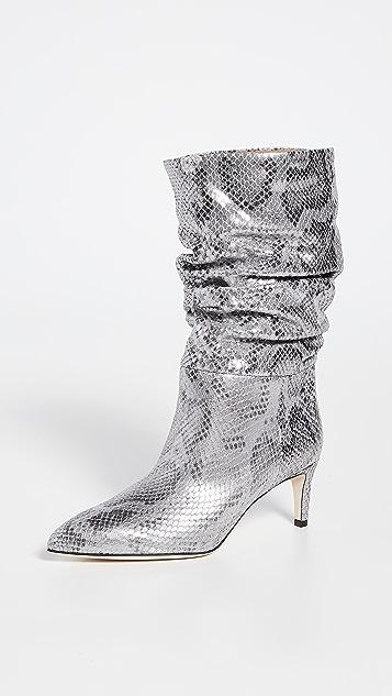 Paris Texas Python Lame Print Slouchy Boots