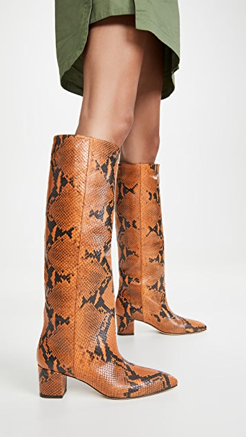 Paris Texas 50mm Python Print Boots