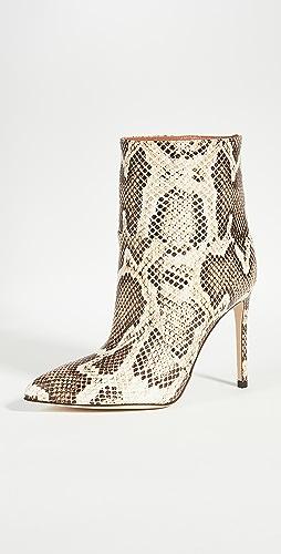 Paris Texas - 蟒蛇纹印花接缝细高跟及踝靴