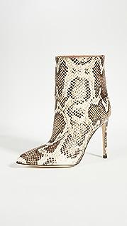 Paris Texas 蟒蛇纹印花接缝细高跟及踝靴