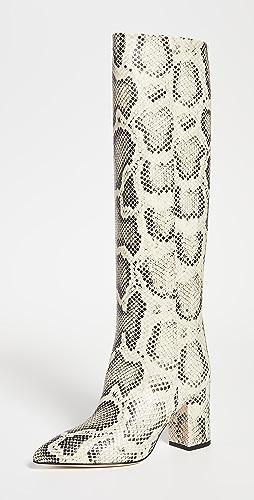 Paris Texas - 蟒蛇纹印花靴 80mm 鞋跟