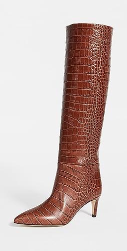 Paris Texas - 60mm Moc Croco Tall Boot Stiletto Heels
