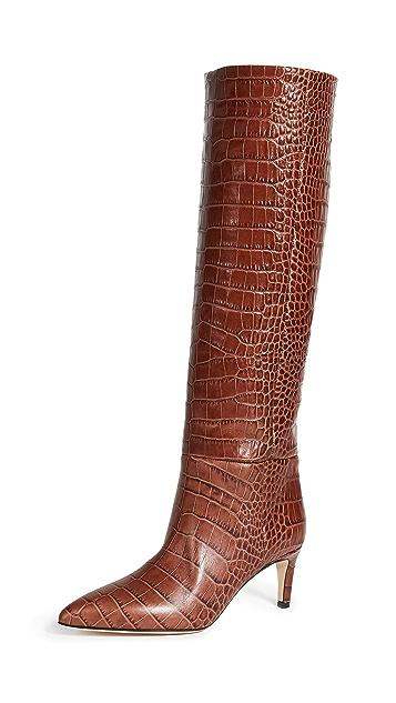 Paris Texas 60mm Moc Croco Tall Boot Stiletto Heels