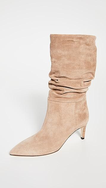 Paris Texas Velour Slouchy Boots
