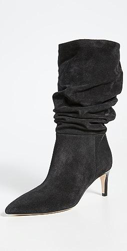 Paris Texas - Velour Slouchy Boots