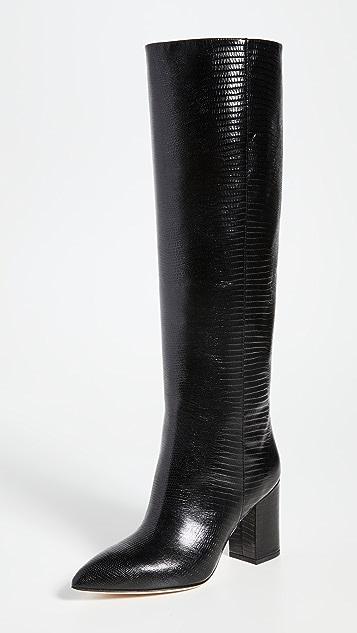 Paris Texas 80mm Lizard Print Boots
