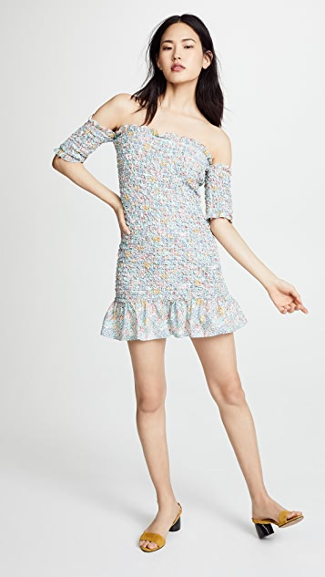 Petersyn Benson Smocked Mini Dress
