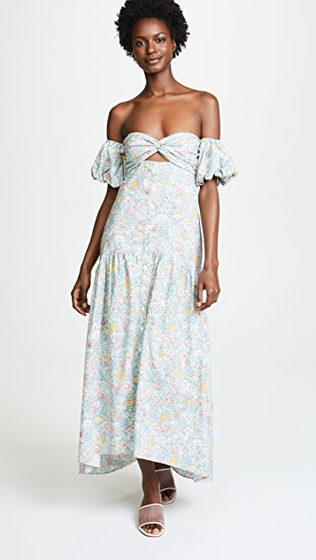 Petersyn Dove Off Shoulder Dress