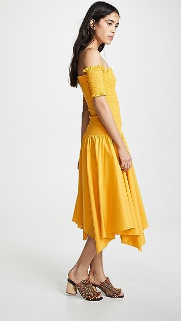 Petersyn Jackie Smocked Off Shoulder Dress