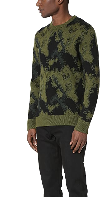 Public School Double Knit Camo Pullover