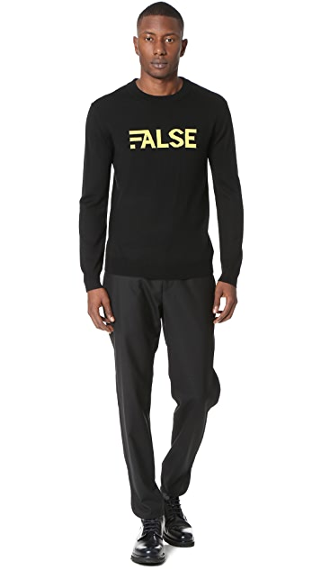 Public School False Crew Neck Pullover