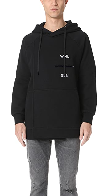 Public School Hikmet Hoodie with Overlaid Pieces