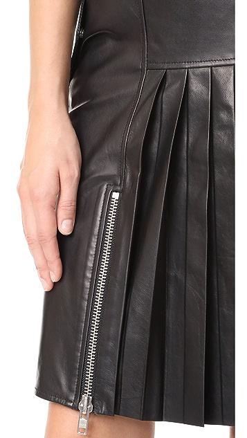 Public School Ebele Leather Skirt