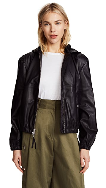 Public School Kris Leather Hoodie