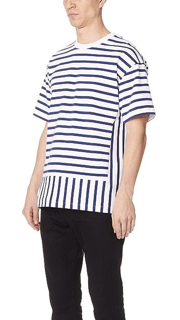 Public School Daryl Short Sleeve Striped Tee