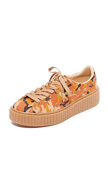 premium selection eb235 6dd13 Rihanna Camo Creeper Sneakers