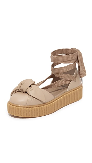 timeless design b8bfd 0e77e FENTY x PUMA Bow Creeper Sandals