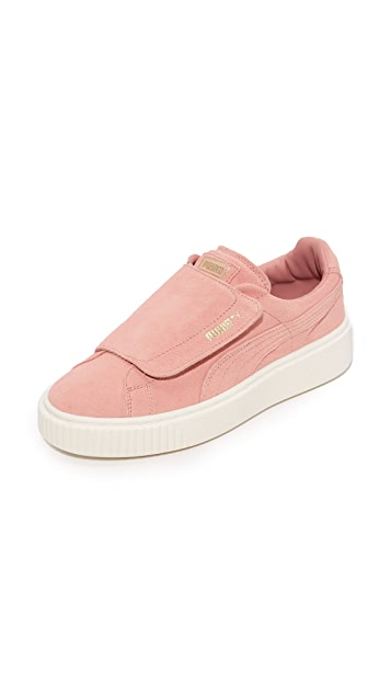 puma platform sneakers with clear bottom
