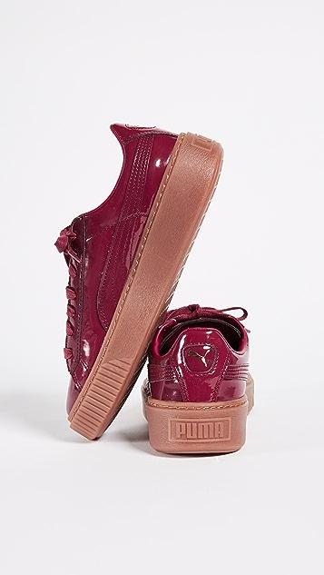 puma basket platform patent red