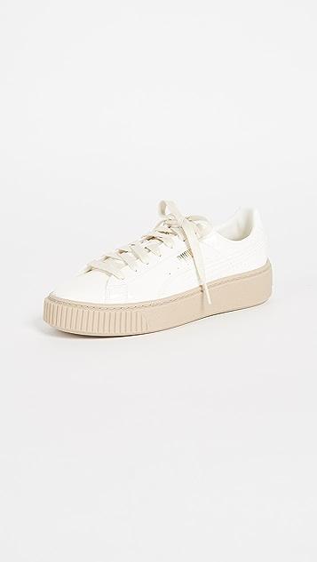 PUMA Basket Platform Patent Sneakers
