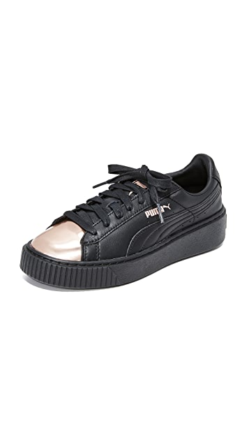 PUMA Basket Platform Metallic Sneakers