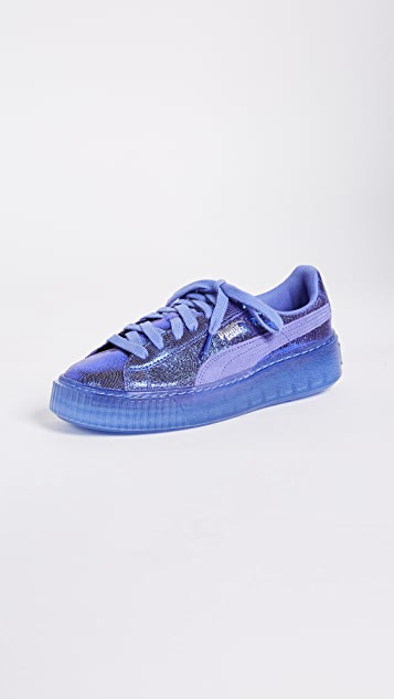 blue puma shoes with clear bottom