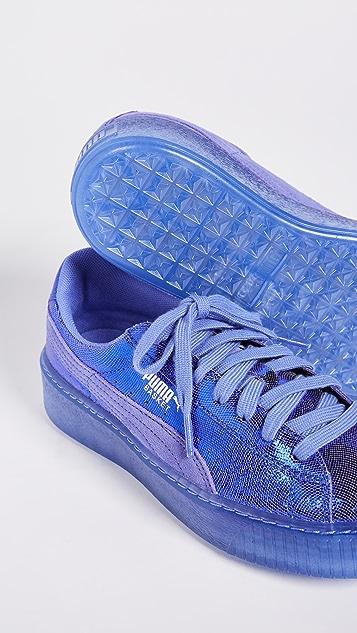 puma basket platform blau