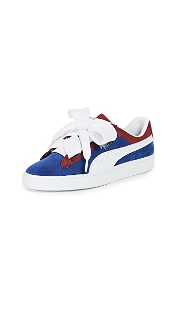 PUMA Basket Heart Colorblock Sneakers