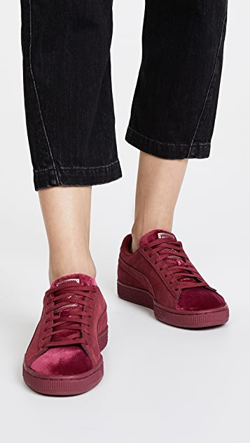 newest 8021d 586e5 Suede Classic Velvet Sneakers