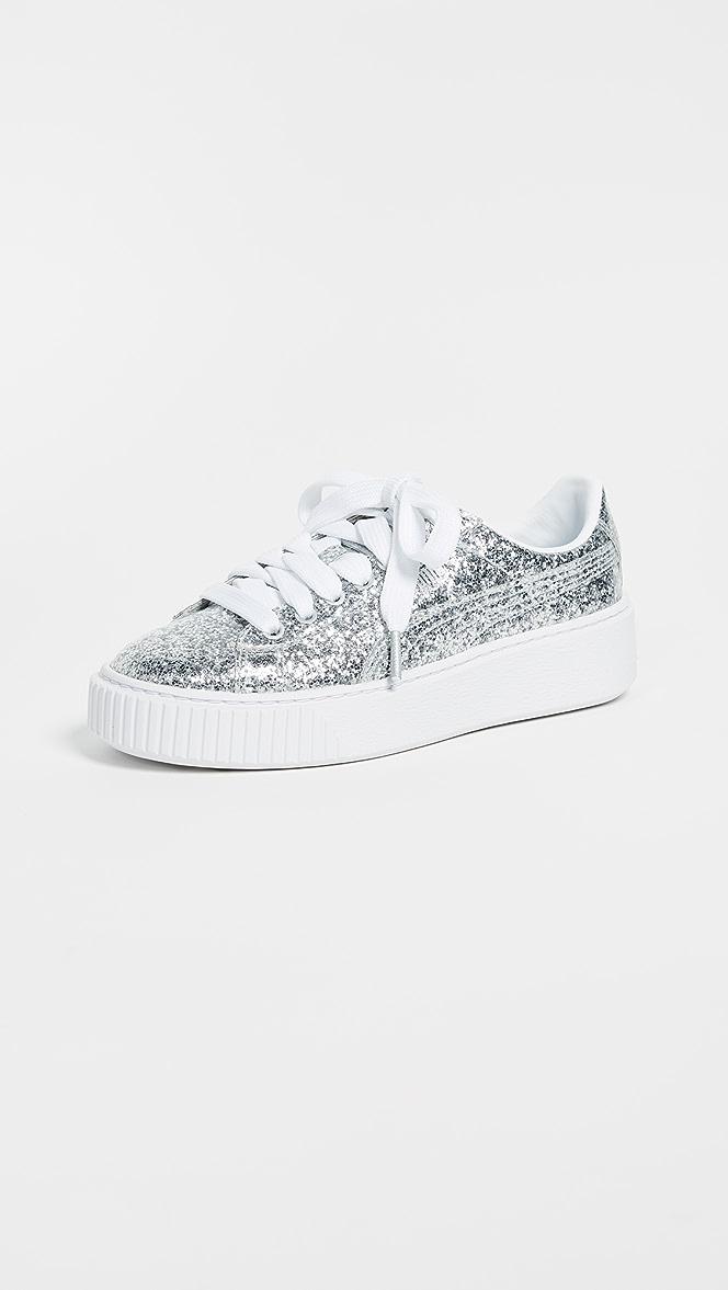 PUMA Basket Platform Glitter Sneakers | SHOPBOP