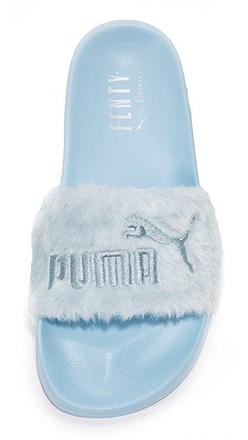 aaf24ccb552729 ... PUMA FENTY x PUMA Faux Fur Slides ...
