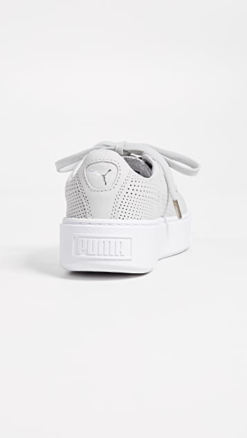 PUMA Basket Platform Perforated Sneakers