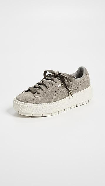 timeless design 3eb4d 2b494 PUMA. Suede Platform Trace Sneakers